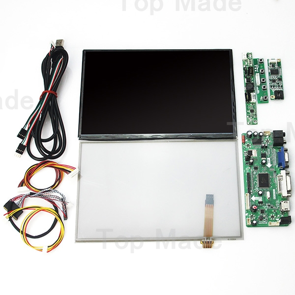 10.1 inch B101UAN02 1920*1200 +Touch Screen Panel+(HDMI+VGA+DVI) LCD Controller Driver Board 8 4 8 inch industrial control lcd monitor vga dvi interface metal shell open frame non touch screen 800 600 4 3