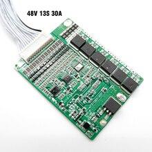 Tamanho pequeno BMS L85 * W65 * H6.5mm, 13 s 48 v 30A bateria de iões de lítio BMS, para 13 s 48 v E moto bateria, Com a função de equilíbrio.