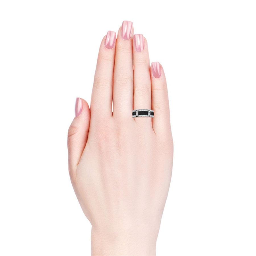 Her Jewellery white & black ceramic ring new design fashion women ...