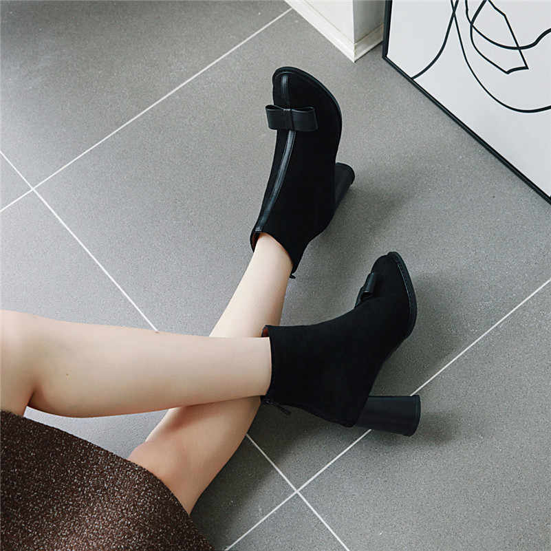 FEDONAS/осенне-зимние теплые винтажные женские ботильоны на молнии; обувь для вечеринок на высоком каблуке; женские короткие ботинки челси из синтетической кожи
