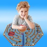 Nove Planetas Crianças Jogo De Madeira Caneta Magnética Labirinto Labirinto de Aprendizagem Educação Toy-m15