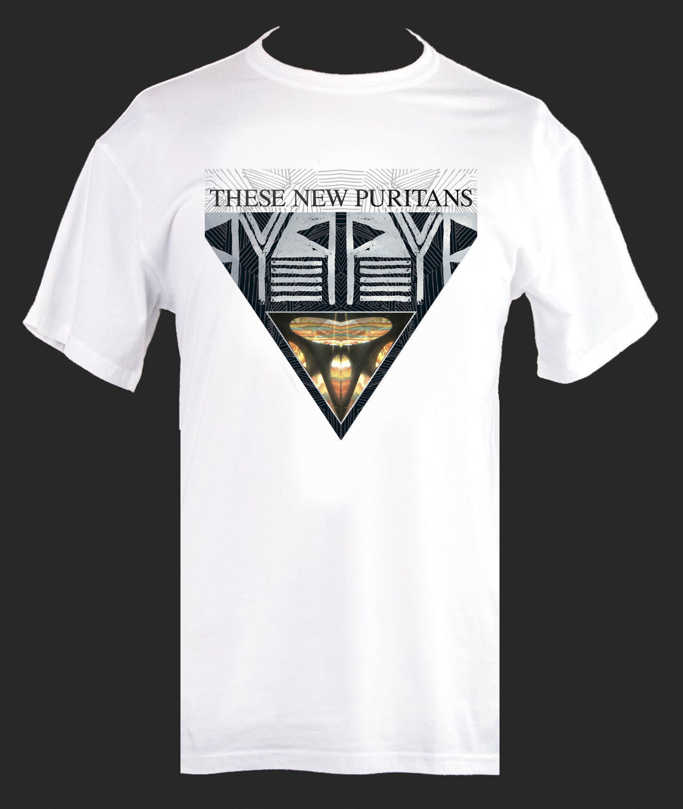 These New Puritans Tshirt Beat Pyramid T Shirt All Sizes 2018 New