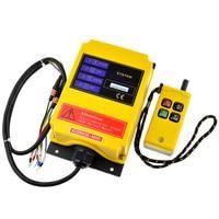 Hoist Crane Radio Remote Control Switch 12V 220V 380V 1 Speed 4CH 1Transmitter 1Receiver 430~440MHz Wireless Remote Controller