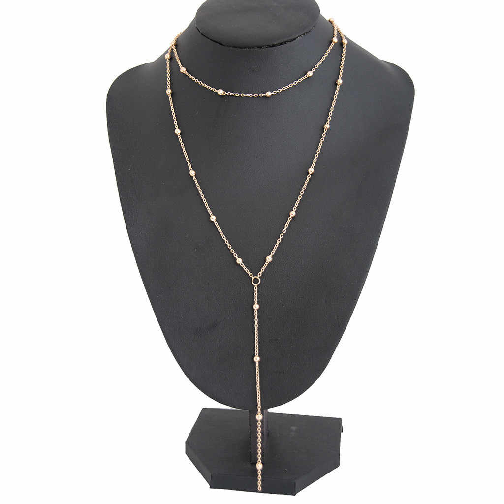 Elegante colgante collar bohemio para mujer joyería de las señoras collar gótico Kolye borla cadena gargantilla niñas collares de moda 2019 L0507