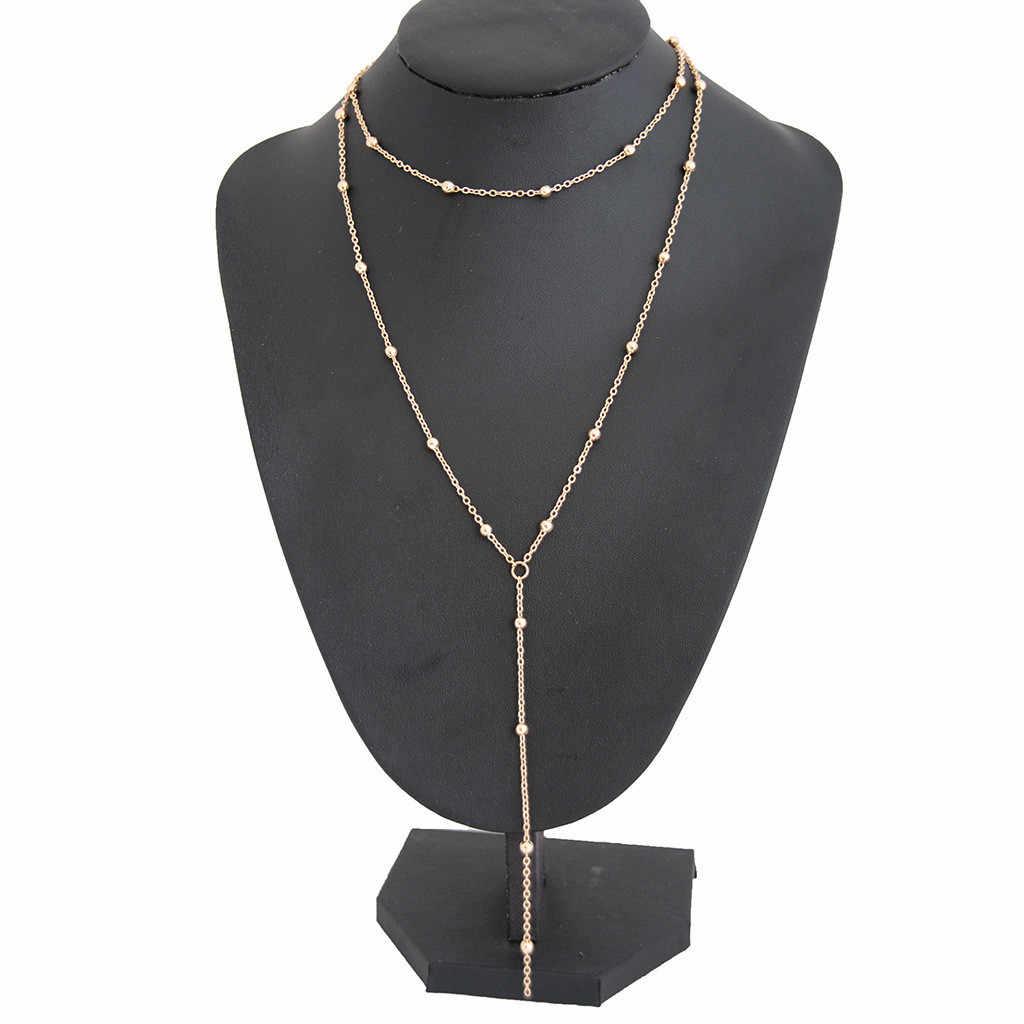 Stylish จี้สร้อยคอผู้หญิง Boho สุภาพสตรีเครื่องประดับ Collier Gothic Kolye พู่ Choker หญิง collares de Moda 2019 L0507