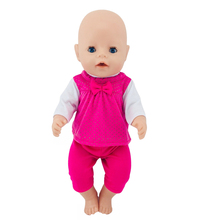 Fit 18 inch 43cm Born New Baby Clothes For Doll Peach Heart Red Clothes Accessories For Baby Birthday Gift