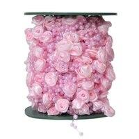 Hoomall 30 м смола цветок 4 мм жемчуг строка круглый цепи Бусины строка Свадебные Аксессуары Новый год партия DIY Материал