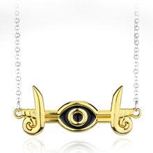 Anime Game Jewelry 3D Yu-Gi-Oh Necklace Yugioh Millenium Yugi Pendants Necklaces(China)