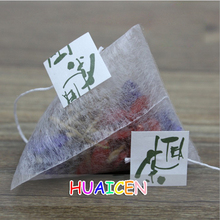 1000pcs/lot Corn Fiber Tea bags PLA Biodegraded Tea Filters Quadrangle Pyramid Heat Sealing Filter Bags