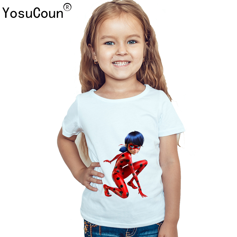 ec1925008951d Miraculous ladybug T shirt Girls T shirts Cartoon Baby Boys T shirt ...