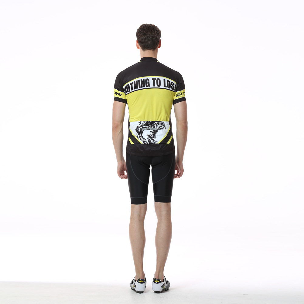 2017 New Cycling Jersey Men Short Sleeve Yellow Dinosaur Anti-sweat Bike Bicycle Jersey Outdoor Sports Quick Dry Shirt Ciclismo