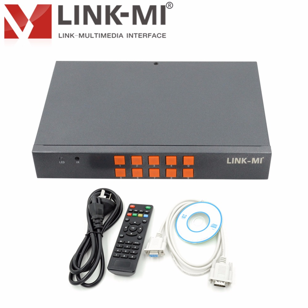 LINK-MI LM-SH21 HDMI VGA CVBS 2x1 stikalo HD Video sintetizator - Domači avdio in video - Fotografija 5