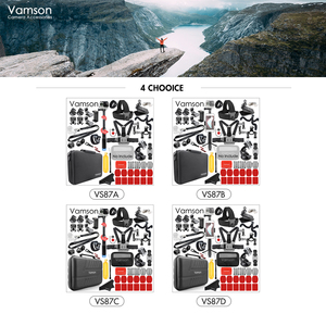 Image 3 - Vamson for Gopro Hero 8 7 Black /6/5/4 Accessories Set for DJI OSMO Action for go pro/xiaomi yi/ Waterproof Carrying Case VS87