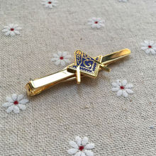 100pcs wholesale square and compass masonic tie clasp tacks mens neck tie clips for the lodge freemasonry tie bar souvenir gifts