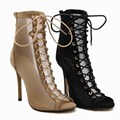 US5-9 New Fashion Style women's high heels Lace-Up Peep Toe Stiletto Cut-Outs sandals ladies celebrity shoes woman Pumps