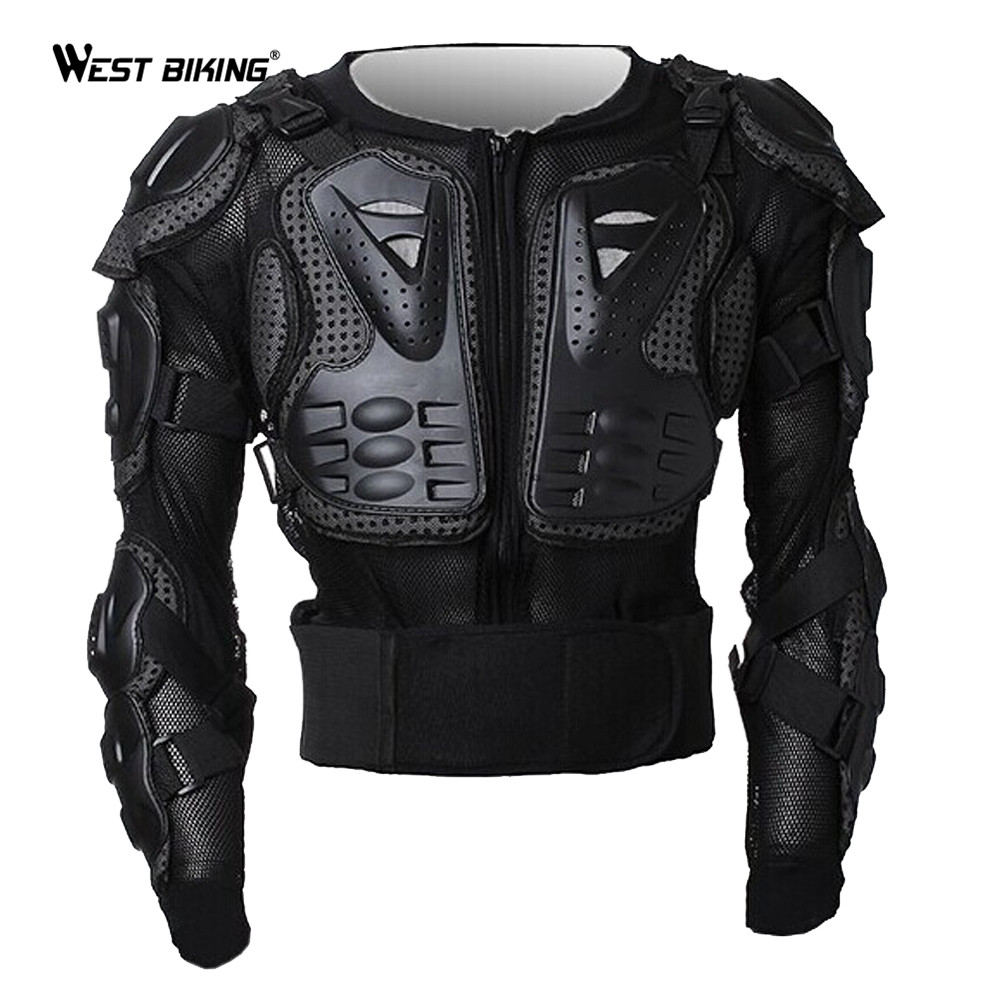 WEST BIKING Professional Motorcycle Armor Drop Resistance Body Armor Bike Jacket For Cycling Riding Motorcycle Protector Jacket west biking indoor cycling exercise station profession bike trainer physical training for long distance match 26 to 28 inch
