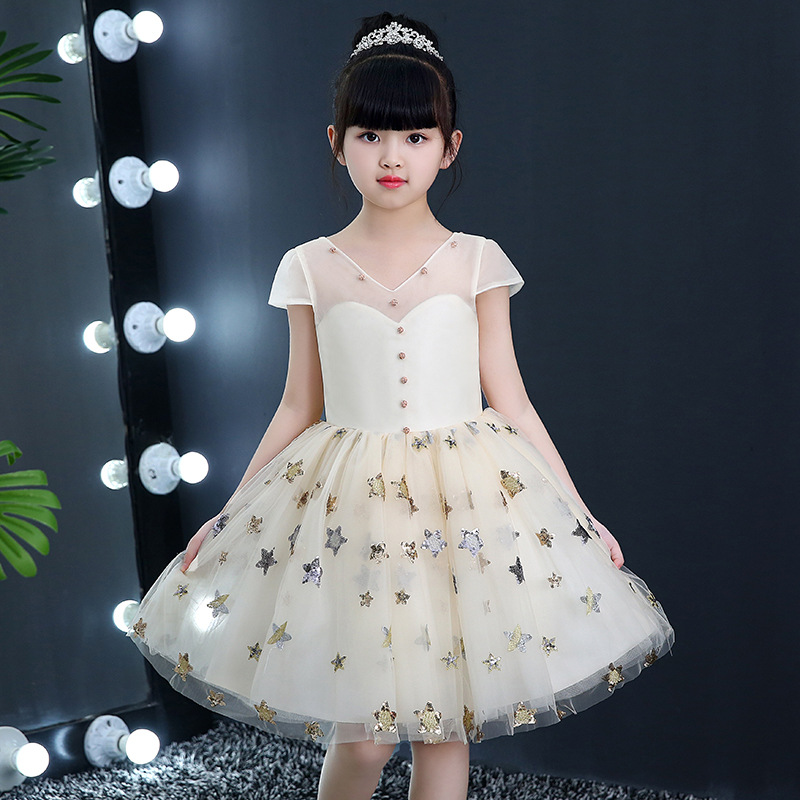 Sequined Star Flower Girl Dresses Kids Pageant Gown for Wedding Birthday Party Gown Summer Girl Dress Ball Gown Princess Dress teenage girl party dress children 2016 summer flower lace princess dress junior girls celebration prom gown dresses kids clothes