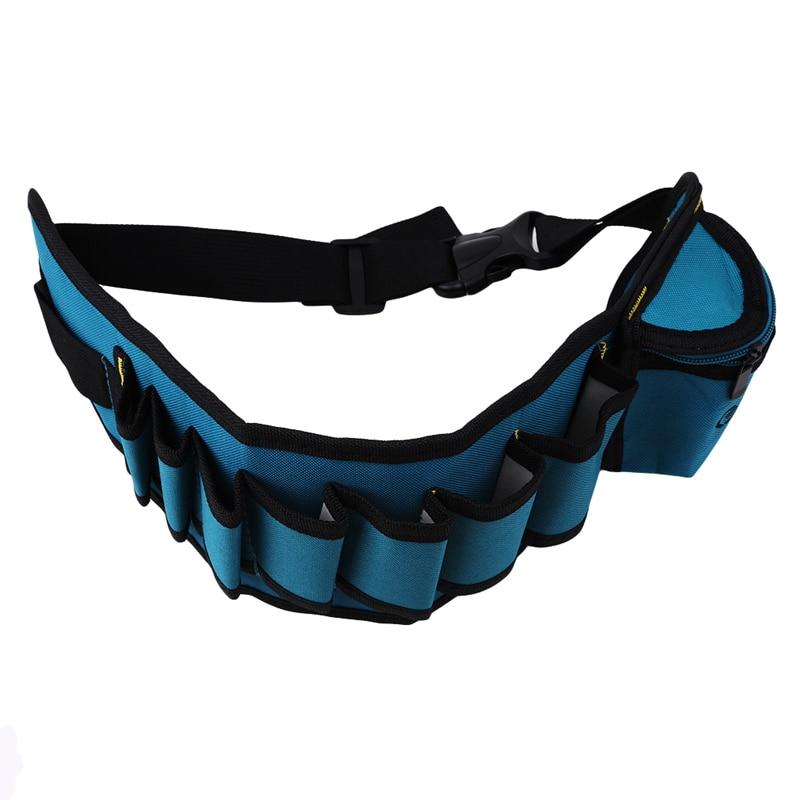 1PC Oxford Waist Pack Portable Tool Bag Electrician Wrist Tool Belt Screws Nails Drill Bits Holder Repair Tools Pockets