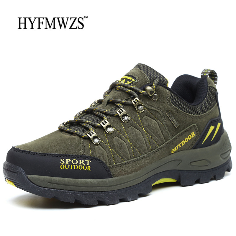 HYFMWZS 2018 New Mens Hiking Boots Krasovki Tactical Shoes Breathable Outdoor Shoes Men Non-slip Hiking Shoes Men Mountain Shoes
