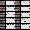 OPHIR Nail Tools   Airbrush Nail Art Stencil Design 20 Template Sheets Kit Air Brush Paint Stickers & Decals _JFH6-JFH10