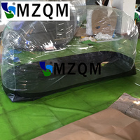 MZQM L2.5*W1*1.4 m PVC Inflatable Shelter Motorcycle capsule Showcase,Inflatable Dust Proof Transparent Tent For Car,Storage Car