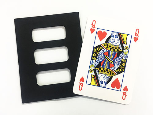 Jumbo Zig Zag Card (size 29 X 22.5cm) Magic Tricks Cut Poker Restore Magia Magician Stage Illusion Gimmick Mentalism Prop Money