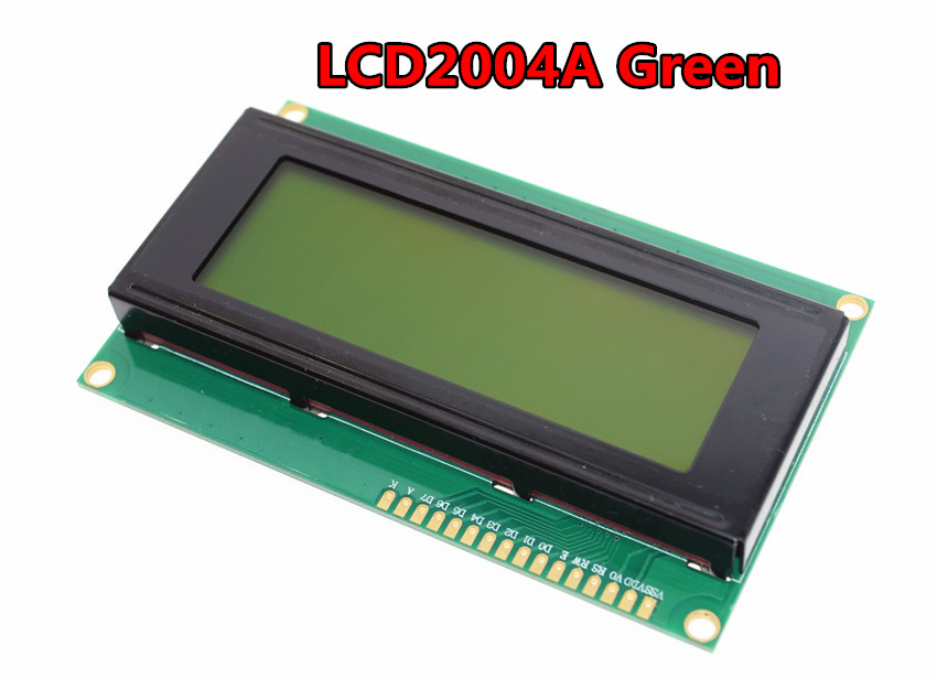 Free shipping LCD Board 2004 20*4 LCD 20X4 5V Green screen LCD2004 display LCD module LCD 2004 for arduino