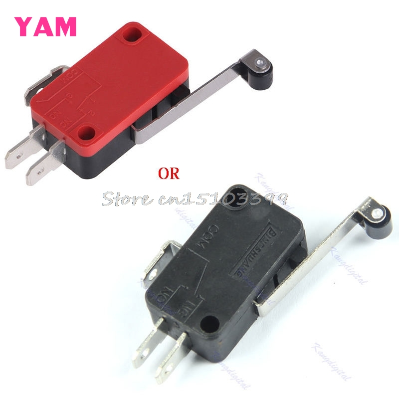 10Pcs/lot New Micro Roller Long Handle Lever Arm Normally Open Close Limit Switch KW7-3 G08 Drop ship 5pcs safety micro limit switch v 15 1c25 roller lever snap action 250v 16a s08 drop ship