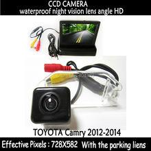 Hd пзс парковочная камера заднего вида для Toyota Camry 2012 2013 2014 автомобиля резервную обратный камера заднего вида + автомобиль монитор зеркала