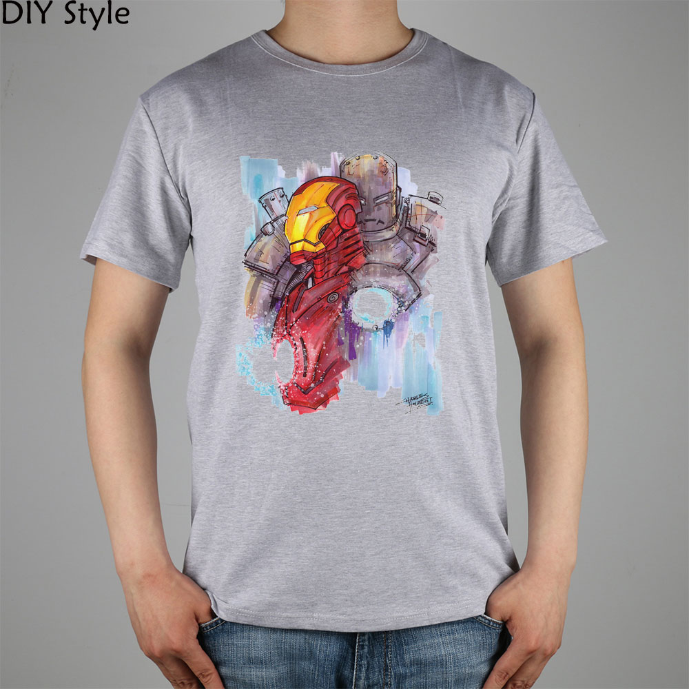 cool font b science b font iron man TONY STARK genius t shirts short sleeves high