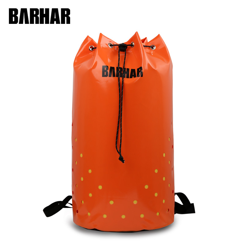 35L PVC Caving movement Climbing Bag Transporting Canyoning Equipment DURABLE Welded Structure Drainage Holes BARHAR caving waterproof dry bags for canyoning swimming kayak rock climbing bag rescue expedition pvc resistance backpack barhar canoe