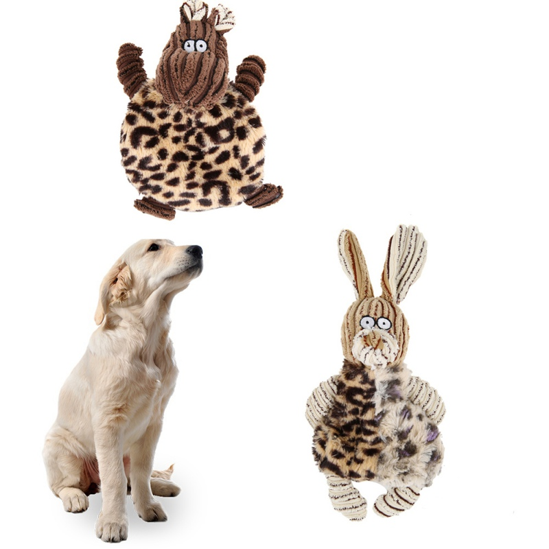 1PC Pet Toy Cute Rabbit Shape Dog PV Plush Puppy Chew Bite Sound Squeaker Squeaky