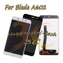 5.5 New Preto/Branco Para Lâmina ZTE A602 Completo DIsplay LCD + Touch Screen Digitador Assembléia 100% Testado Com rastreamento
