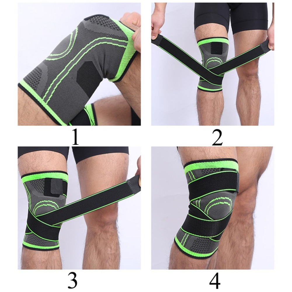 d6a86443cb 3d Pressurized Fitness Running Cycling Bandage Knee Support Braces Elastic  Nylon Sports Compression Pad Sleeve Ship Today-in Elbow & Knee Pads from  Sports ...