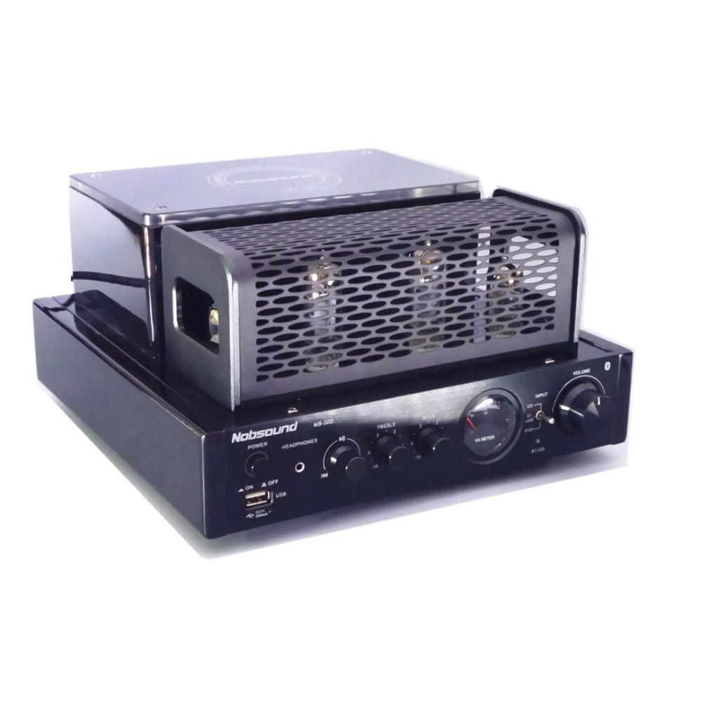 Prix pour 2017 nouveau MS-30D usb Bluetooth Hifi Tube À Vide Amplificateur lecteur Audio pour La Maison Amplificateur 25 W + 25 W 220 v/50 HZ