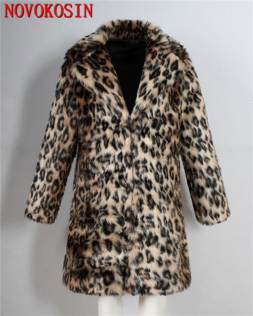 3XL Men Faux Fur Suit Neck...
