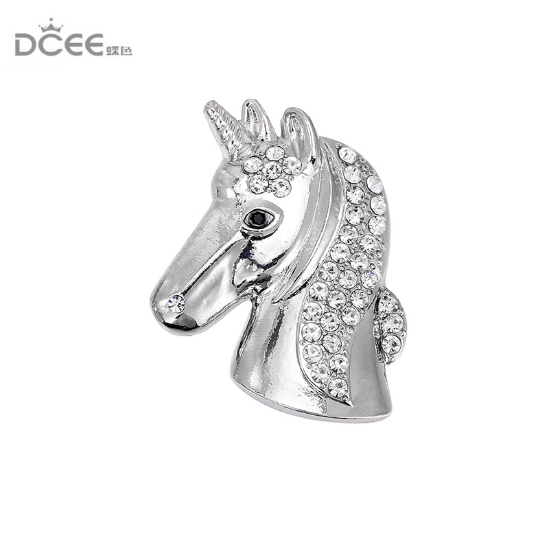 DCEE High Quality Korean Men And Women Horse Brooch Zinc magnet Alloy Pin Suit Accessories not hurt clothes