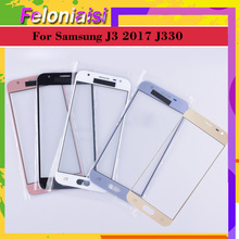 10Pcs/lot For Samsung Galaxy J3 2017 J330 J330F SM-J330FN SM-J330F/DS Touch Screen Front Glass Panel TouchScreen LCD Outer Lens