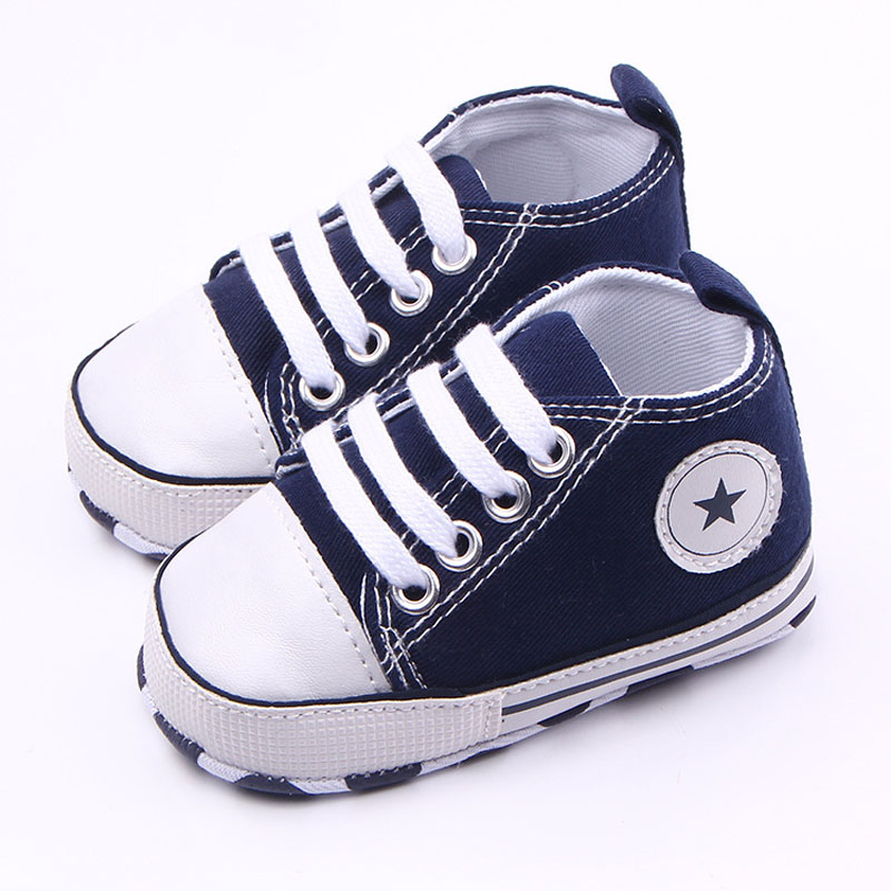 5 Colors Canvas Baby Sneakers Soft Sole Unisex Newborn First Walkers 0-12 Months