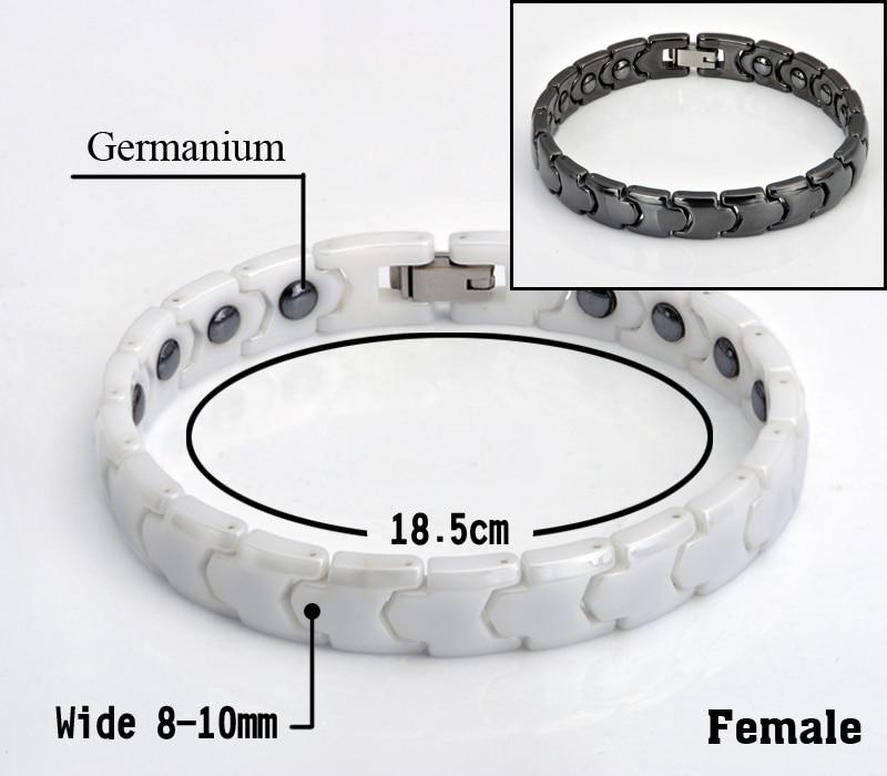 Hottime Black White Keramiska Magnetiska Terapi Armband Bio Element - Märkessmycken - Foto 6
