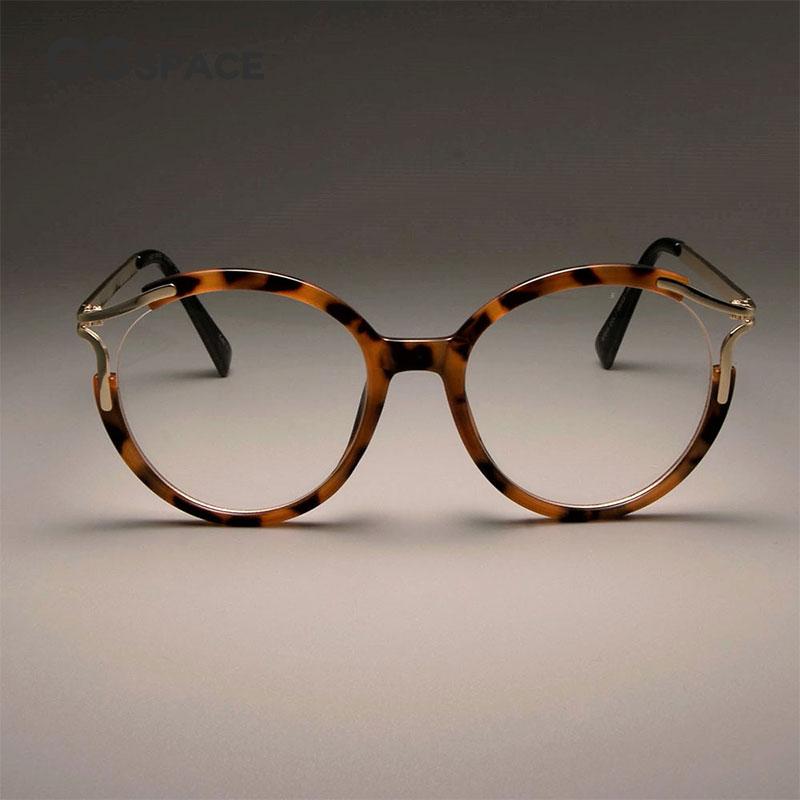 CCSPACE Damen Katze Brillen Frames Für Frauen Sexy Metall Hohle ...