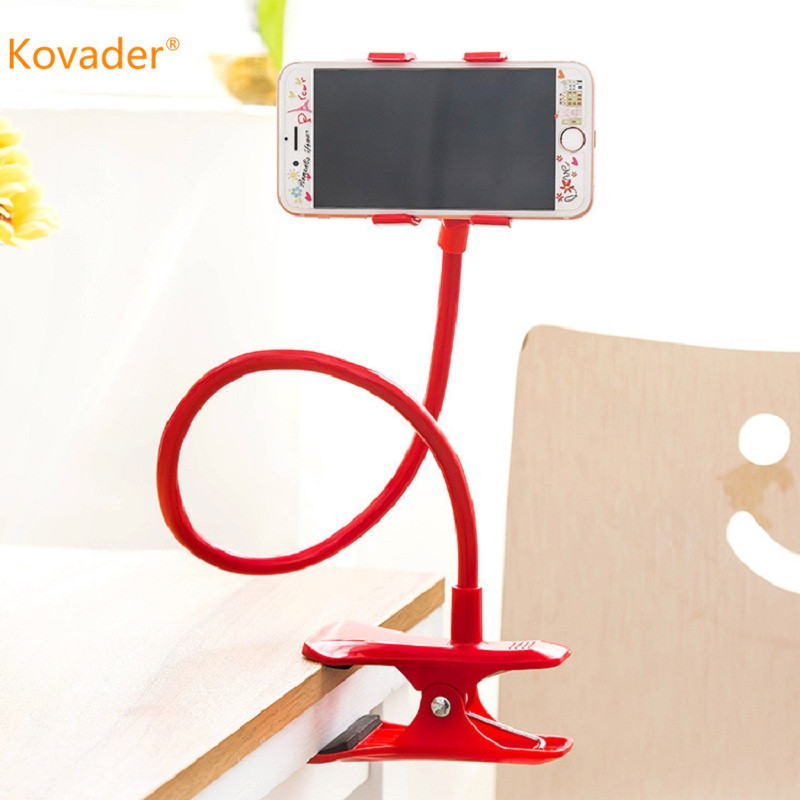 Lazy Shelf Bedside Smart Phone Holder Flexible Long Arm Clamp Bending Desktop Bedside Bracket Support Cellphone Adjustable Stand