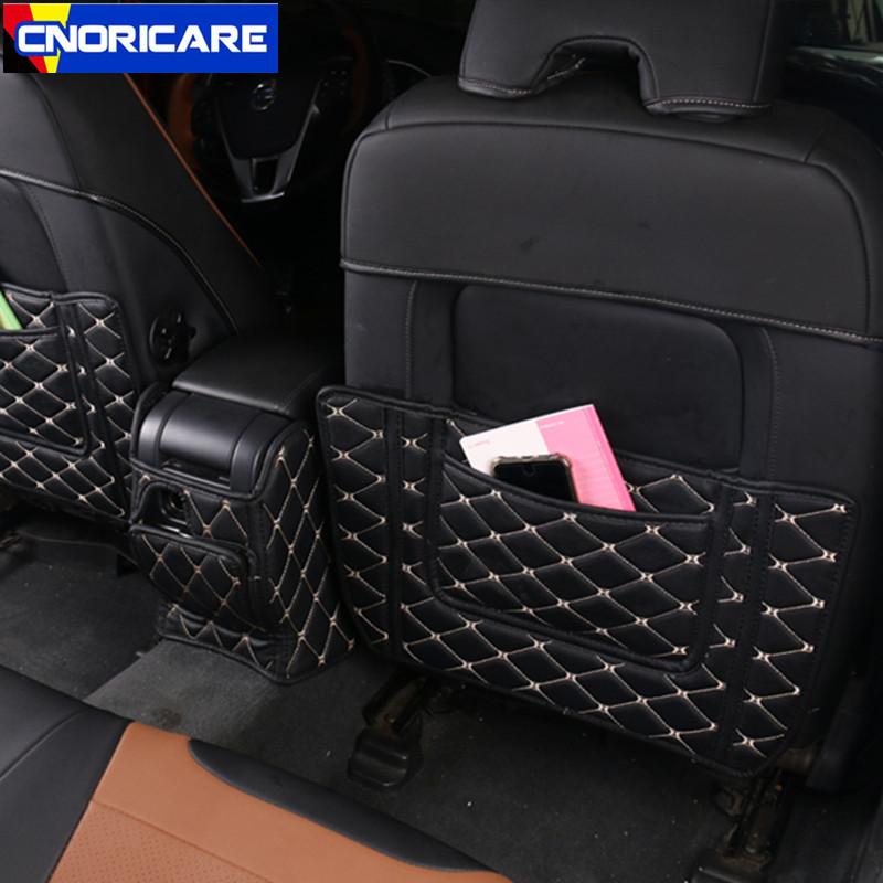 CNORICARC siège de voiture en cuir dossier Anti coup de pied intérieur de voiture Anti sale tapis accoudoir boîte Protection Pad pour Volvo XC60 S60