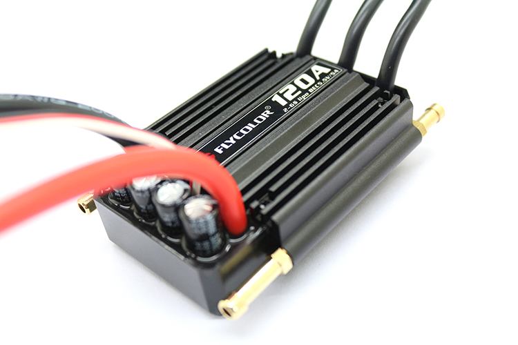Original FLYCOLOR 2-6S 120A Waterproof Brushless ESC Speed Controller for RC Boat Ship with BEC 5.5V/5A Water Cooling System low price sell brushless esc for car boats rc model 50a brushless esc for boat with water cooling system brake xxd50a
