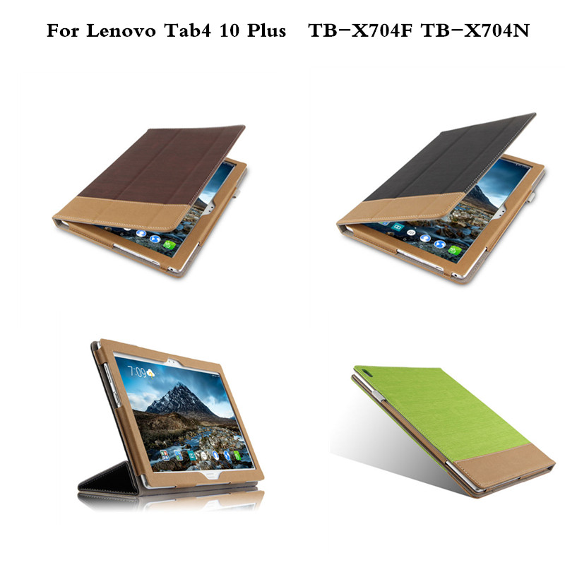 Ultra-thin Folio Flip PU Leather Case Flip Cover For Lenovo Tab 4 10 Plus TB-X704F TB-X704N Case 10 inch Tablet PC luxury flip stand case for samsung galaxy tab 3 10 1 p5200 p5210 p5220 tablet 10 1 inch pu leather protective cover for tab3