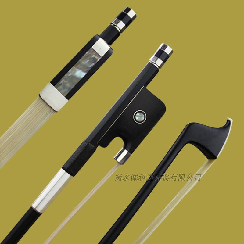 Free Shipping 1 Pc Strong Professional carbon fiber Double Bass 4/4 bow Pairs eye round and straight stick nickel siver fittings top grade carbon fiber 4 4 violin bow straight pretty inlay 17