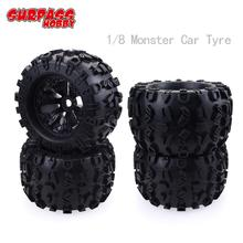 4Pcs/2pcs  SURPASS HOBBY 17mm Hex Wheel 170mm Tyre Tires for RC 1/8 Monster Truck HPI Savage FLUX HSP все цены