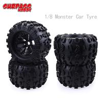 4Pcs/2pcs SURPASS HOBBY 17mm Hex Wheel 170mm Tyre Tires for RC 1/8 Monster Truck HPI Savage FLUX HSP