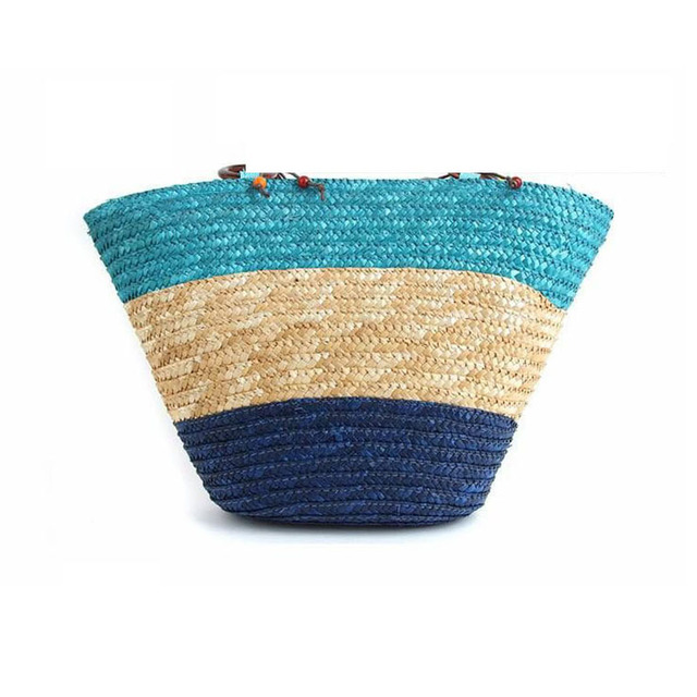 REREKAXI New Straw Bag Fashion Women Shoulder Bags Large Capacity Beach Bag Wheat Pole Weave Handbag Starfish Ladies Tote 6