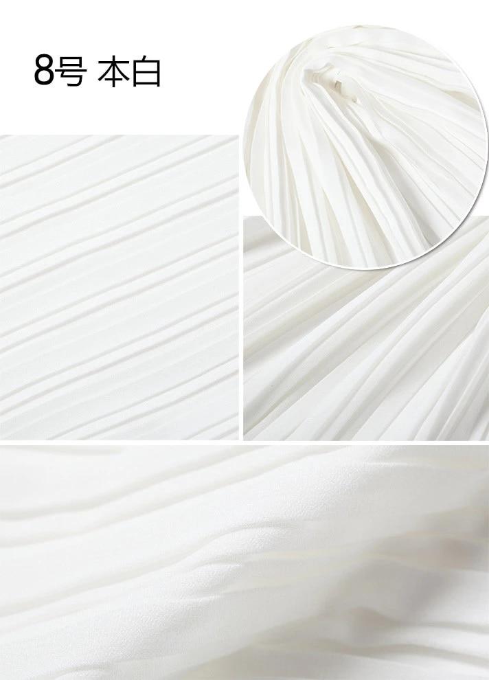 2 meters 150cm 59 width pale yellow pleated chiffon fabric pearl yarn fabric wedding dress materials MM96 Free Ship